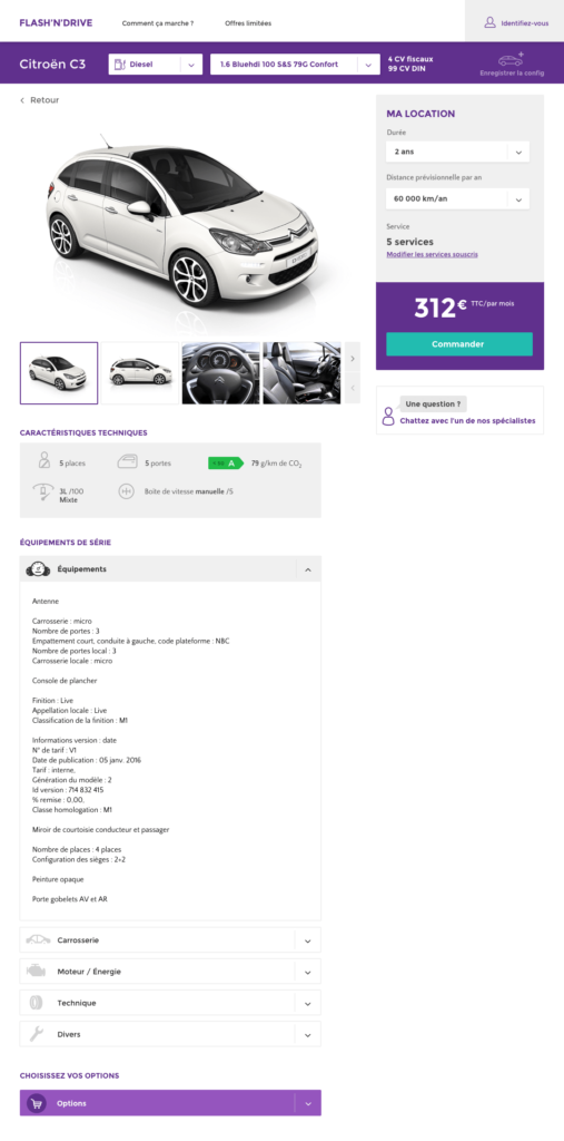 page site web My car Lease Natixis