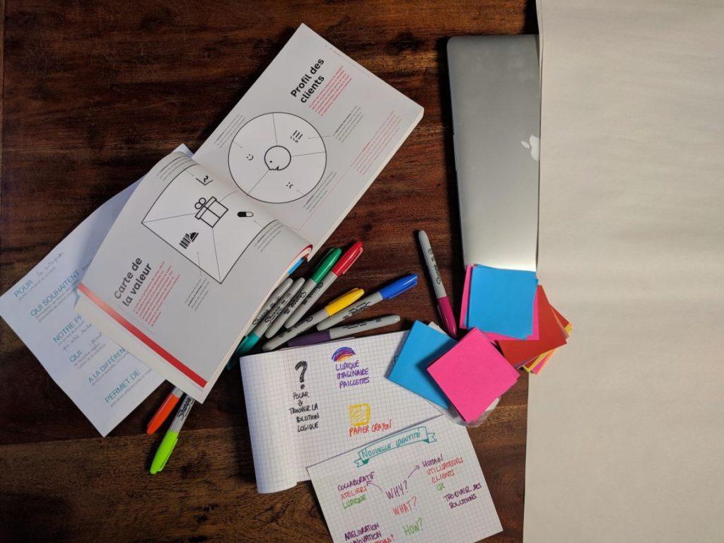 livre value proposition design ouvert avec des feutres