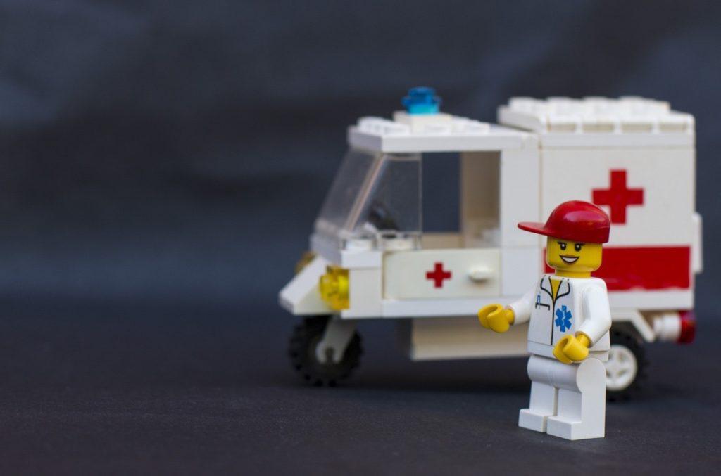 ambulance en lego