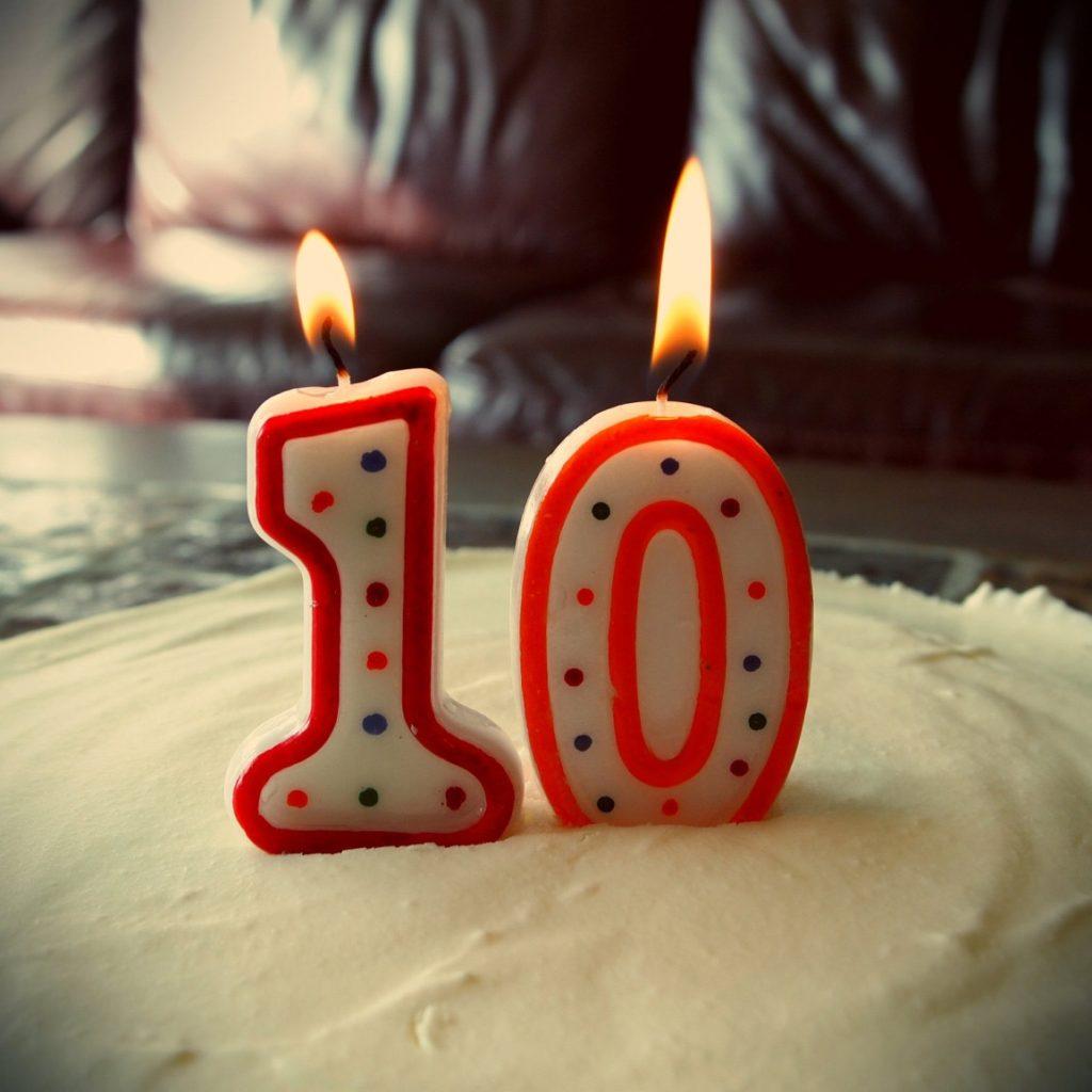 bougies 10 ans