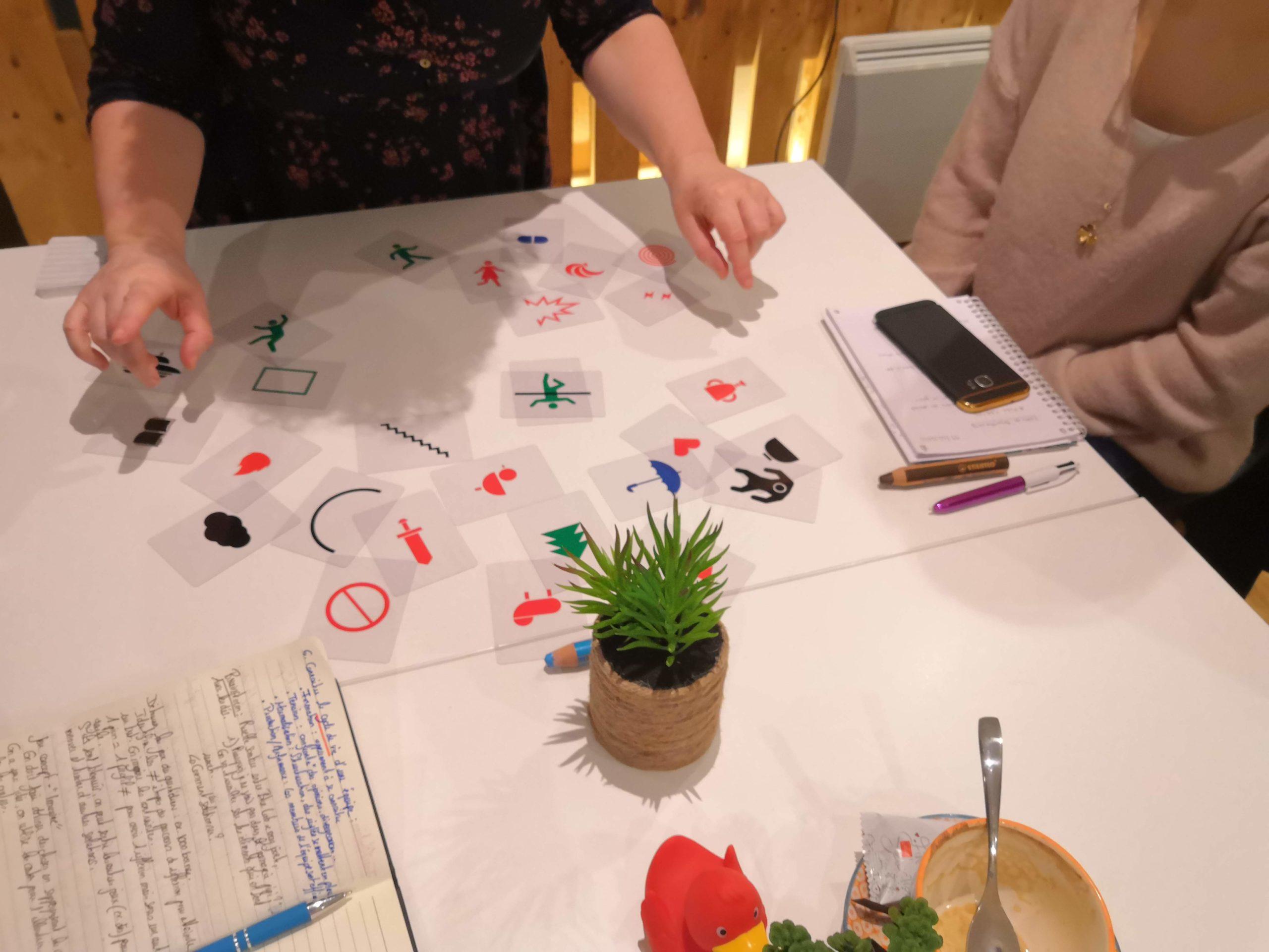 brainstormer avec des cartes