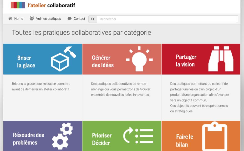 le site web l'atelier collaboratif