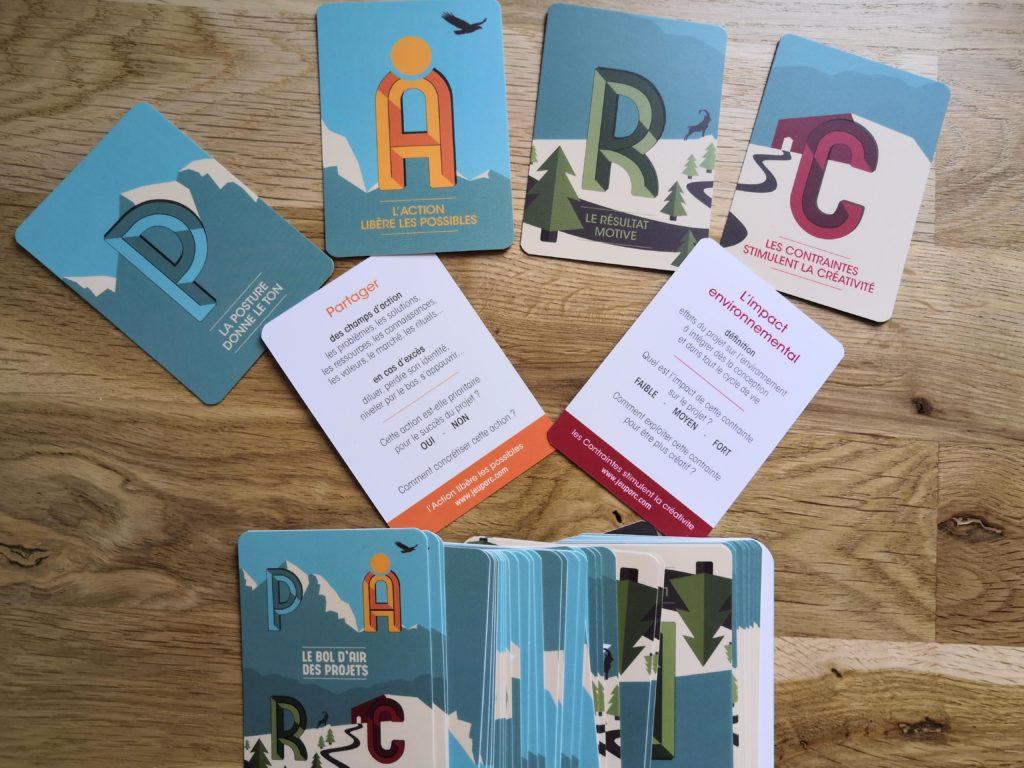 cartes PARC, Posture, Action, Résultat, Contrainte